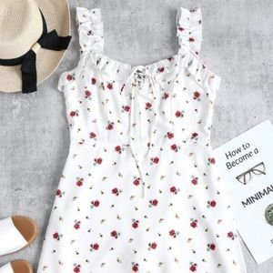White rose dress